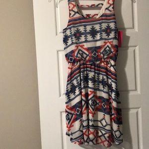 New multi colored chiffon dress for junior  XS